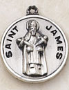 St James Round Sterling Silver Medal