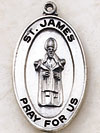 St James Oval Sterling Silver Medal