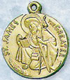 St James Gold Filled Medal