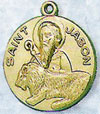 St Jason Gold Filled Medal