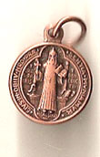 St. Benedict Bronze Tint Oxidized Medal