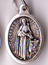 St. John Berchmans Inexpensive Oxidized Medal