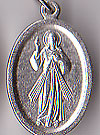 Divine Mercy Inexpensive Oxidized Medal