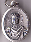 St. Genesius Inexpensive Oxidized Medal