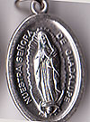 Our Lady of Guadalupe Inexpensive Oxidized Medal