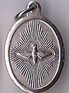 Holy Spirit Inexpensive Oxidized Medal