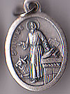 St. Luke Oxidized Medal