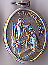 St. Margaret Inexpensive Oxidized Medal