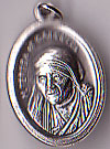Mother Theresa Inexpensive Oxidized Medal