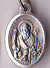 St. Nicholas Inexpensive Oxidized Medal
