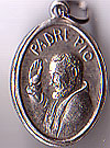 St. Padre Pio Inexpensive Oxidized Medal