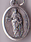 St. Rose of Lima Inexpensive Oxidized Medal