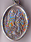 St. Raphael Inexpensive Oxidized Medal