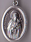 St. Therese Inexpensive Oxidized Medal