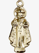 Gold Filled Infant of Prague Pendant
