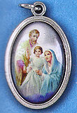 Holy Family Oxidized Picture Medal