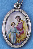 St. Joseph Oxidized Picture Medal