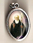 St. Benedict Oxidized Picture Medal