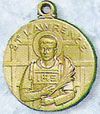 St Lawrence Gold Filled Medal