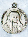 St Louise Sterling Silver Medal