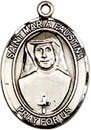 St Maria Faustina Sterling Silver Medal