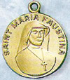 St Maria Faustina Gold Filled Medal