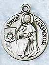 St Peregrine Sterling Silver Medal