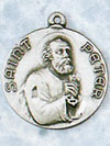 St Peter Sterling Silver Medal