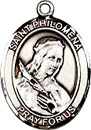 St Philomena Sterling Silver Medal