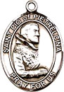 St Padre Pio Sterling Silver Medal
