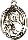 St Theresa Sterling Silver Medal