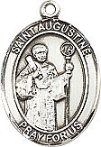 St Augustine Sterling Silver Medal