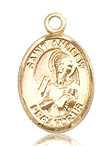 St Andrew Small 14kt Gold Medal
