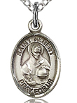 St Albert Small Sterling Silver Medal