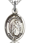 St Aaron Small Sterling Silver Medal