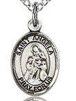 St Angela Small Sterling Silver Medal