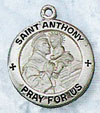 St Anthony Sterling Silver Medal