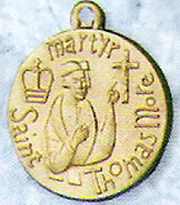 St Thomas More Gold Filled Medal