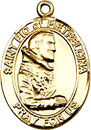 St Padre Pio Gold Filled Medal