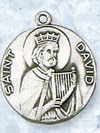 St David Sterling Silver Medal