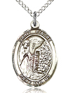 St Fiacre Sterling Silver Medal
