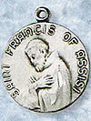 St Francis of Assisi Sterling Silver Medal