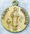 St Genesius Gold Filled Medal