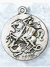 St George Sterling Silver Medal