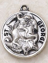 St George Round Sterling Silver Medal