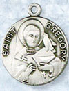 St Gregory Sterling Silver Medal