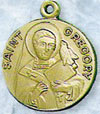 St Gregory Gold Filled Medal