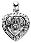 Miraculous Heart Shaped Pendant Crystal