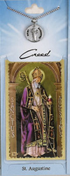 St Augustine Prayer Card with Pewter Medal