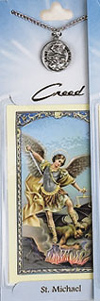 St Michael Patron Saint of Police Prayer Card wi